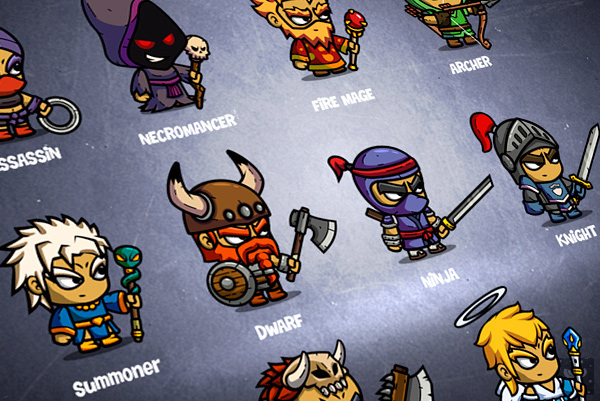 Game Design Character Classes : Characters rpg box on behance