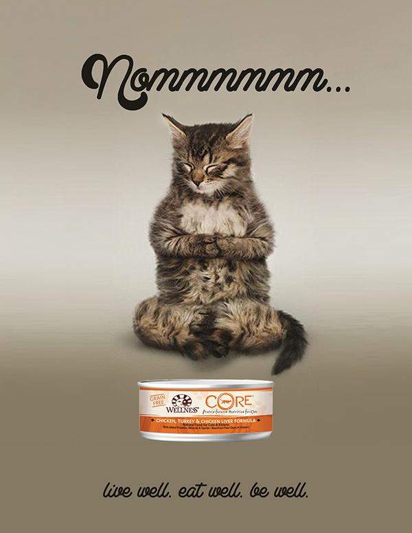 Wellness Cat Food Print Ads On Behance