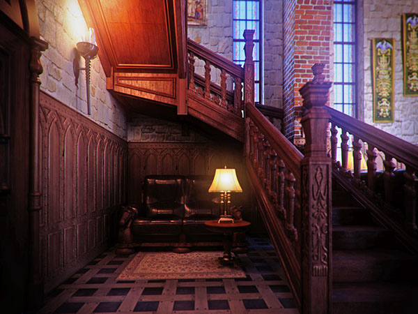 Architectural Interior Visualization For Private Residence In Gothic Style 3dvisdesign Portfolio Rendering