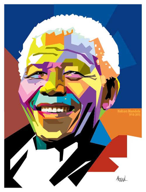 nelson mandela wpap on behance rh behance net Beach Clip Art Beach Clip Art