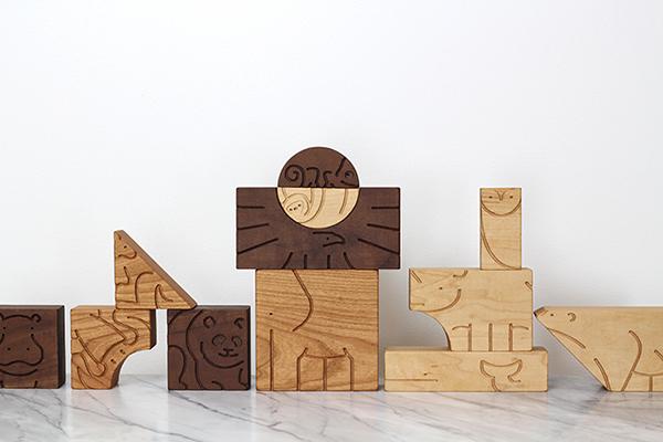 aminal blocks wood studio dunn dunn asher toy Sustainable animal