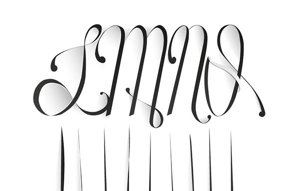 LP lettering stencil