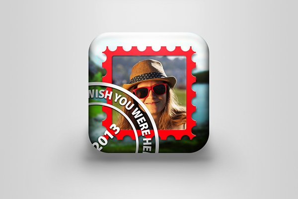 stamp postcard photo Picture ios Icon