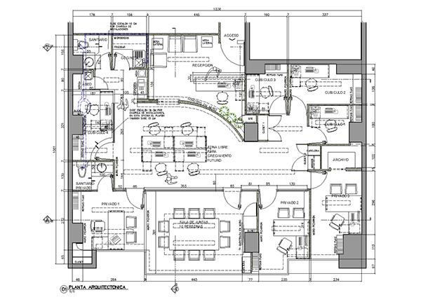 Proyectos 2012 on behance for Oficinas planta arquitectonica