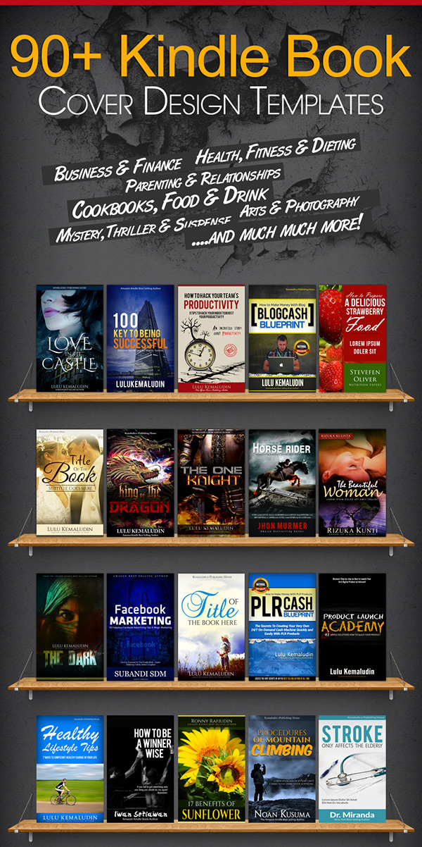 Lulu Book Cover Template ~ Kindle book cover psd templates on behance