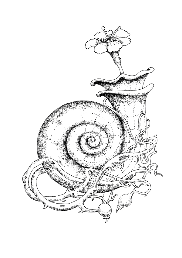 Black And White Pointillism Style Illustrations on Behance