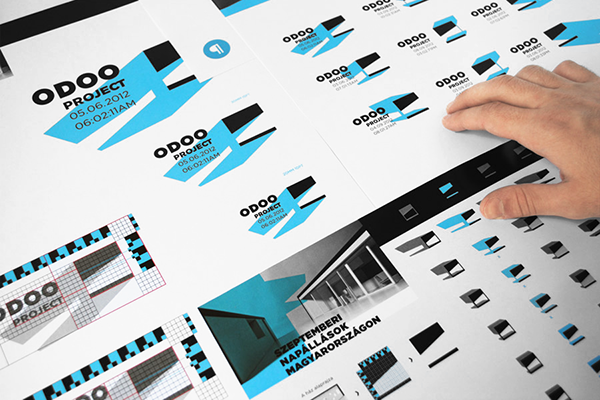 Odooproject  hiddeh characters Solar energy Identity Design brand building hungary Logo Design