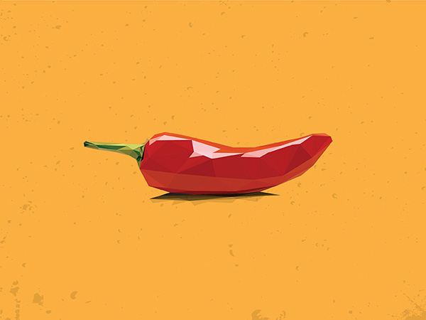 Low-Poly Chilli Pepper