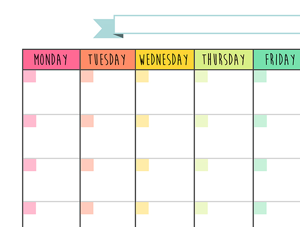 Calendar Monthly Planner  Free Printable On Behance