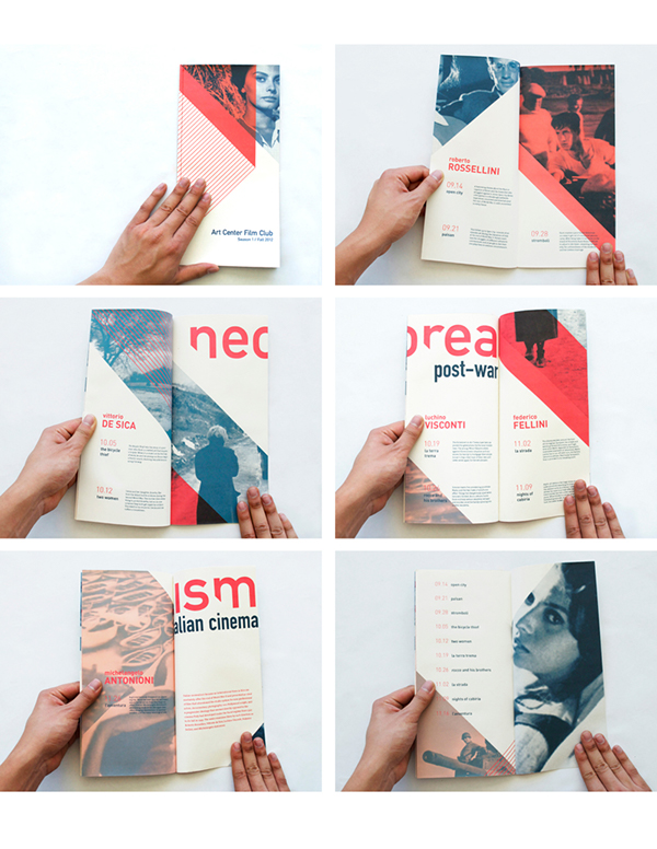 Cinema poster brochure italian neorealism   series binding