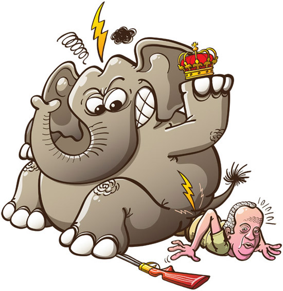 Spain's king breaks his hip when elephant hunting