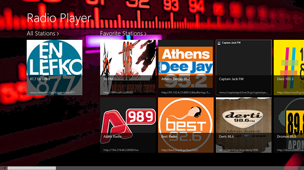 radio player  windows 8