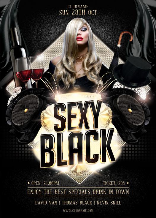 Sexy Black Flyer Template on Behance – Black Flyer Template