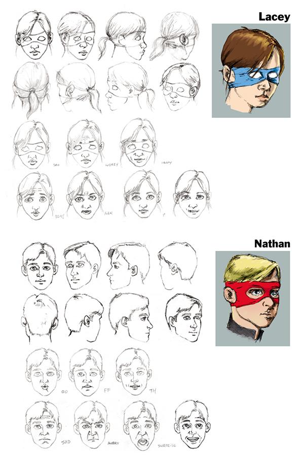 Marvel Character Design Behance : Teen superhero character designs on behance