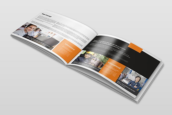 business portfolio brochure landscape on pantone canvas gallery