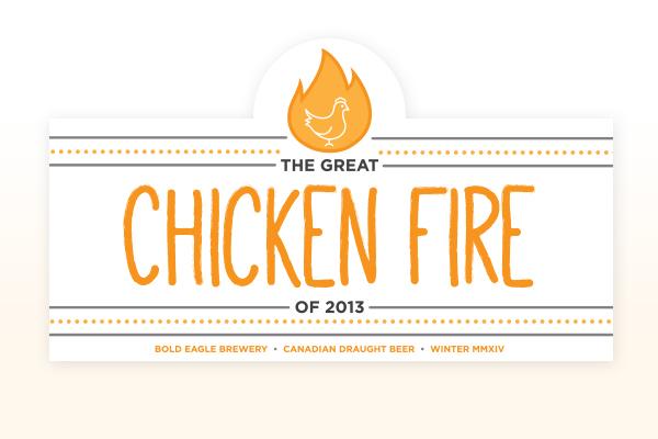 beer Label homebrew chicken fire beverage