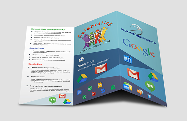 google and rockman event brochure on behance