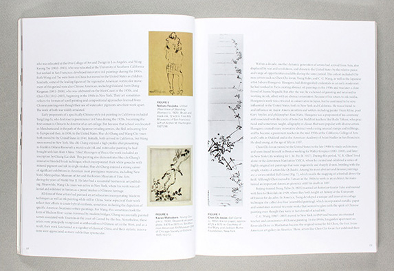 graphic design publication  art catalog  user-experience design ink painting