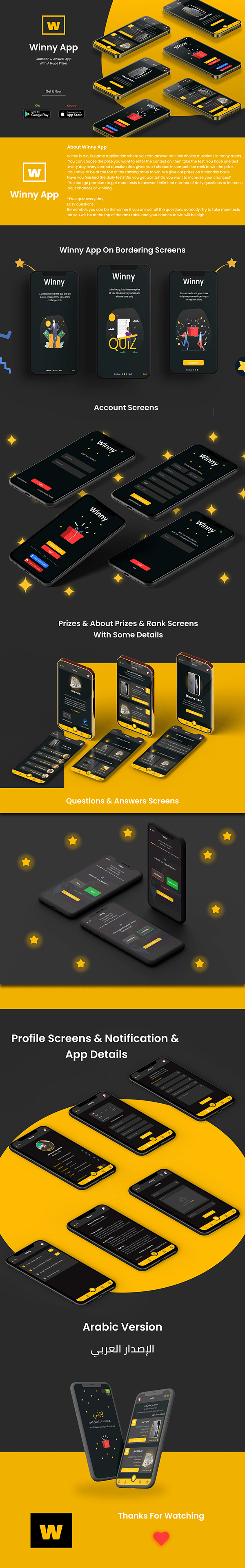 Winny App | UI UX App Design