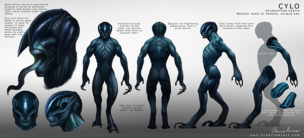 alien Character Sheet personal project