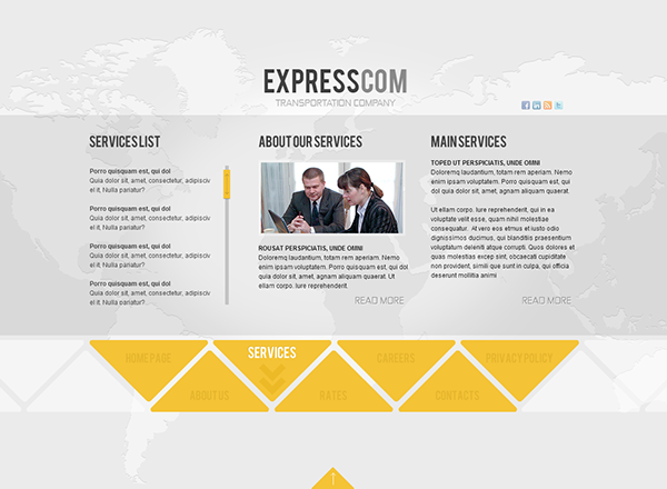Express Delivery Dynamic Flash Template