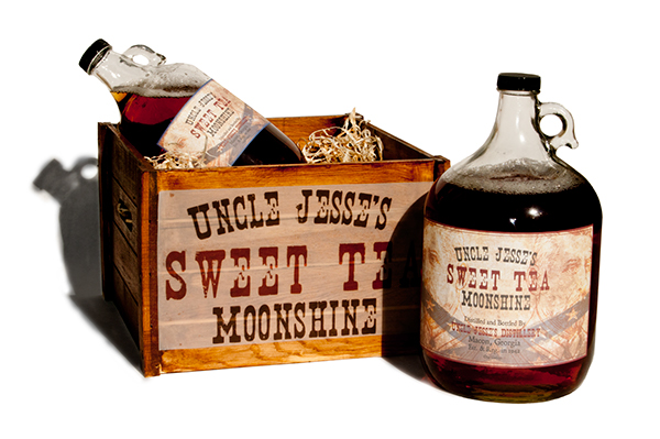 Uncle Jesse's Sweet Tea Moonshine on Behance
