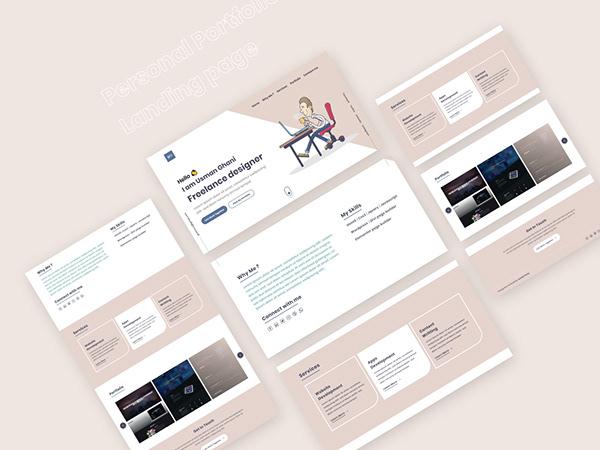 Personal Portfolio Landing Page Concept 4