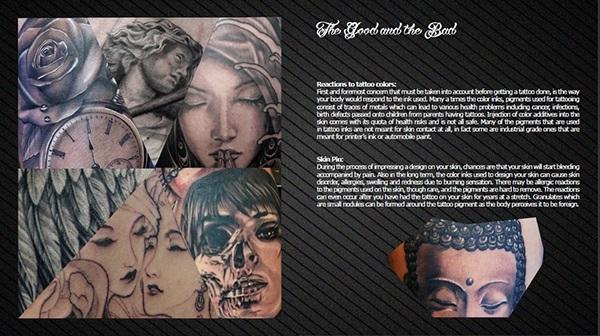 Body Art Tatto Design On Student Show