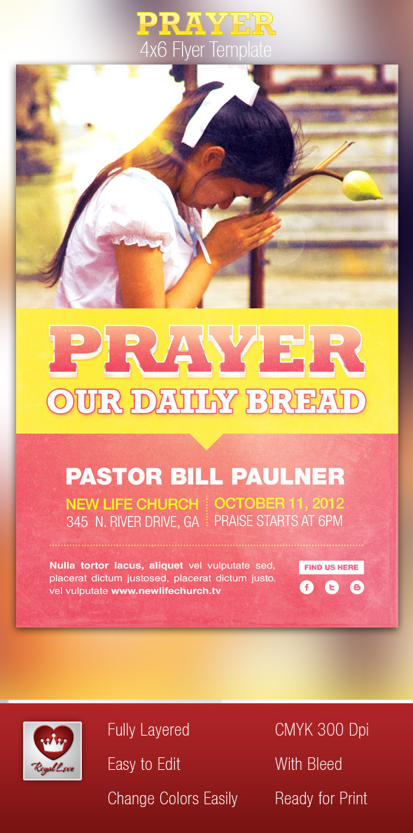 Prayer Church Flyer Template On Behance