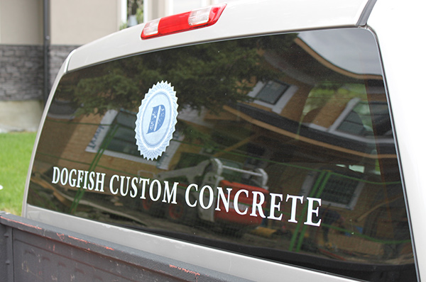 Custom Concrete concrete design vehicle decaling concrete landscaping custom crete design