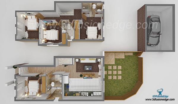 3d architectural floor plan on Student Show