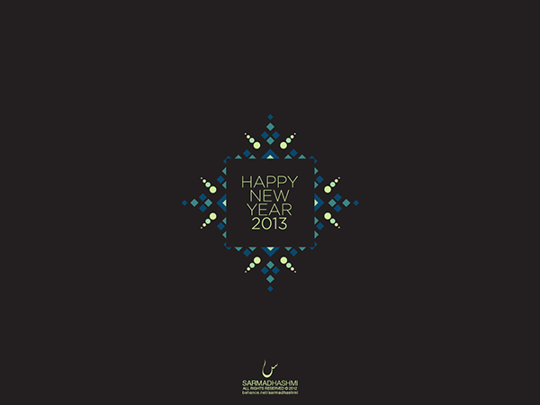 minimal wallpaper project new year 2013 on behance