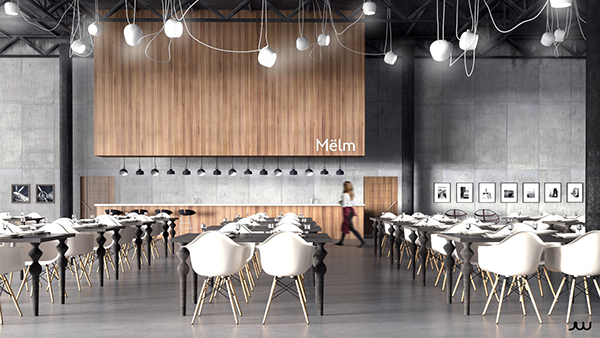 Minimalist restaurant on behance