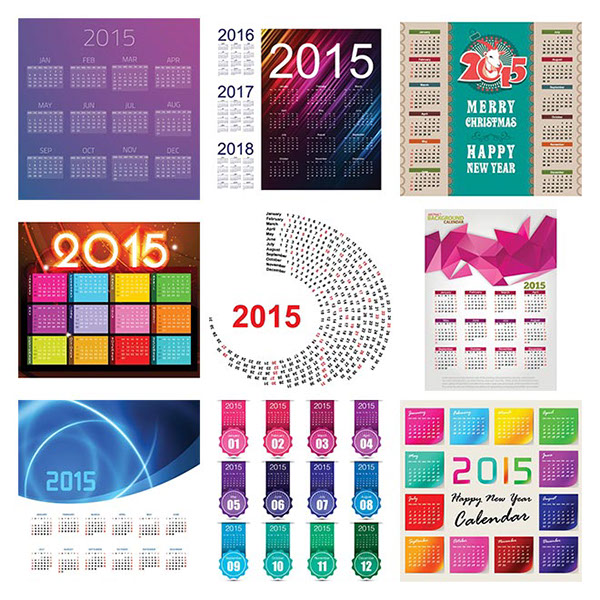 70 Best Vector 2015 Calendar Template Design On Behance