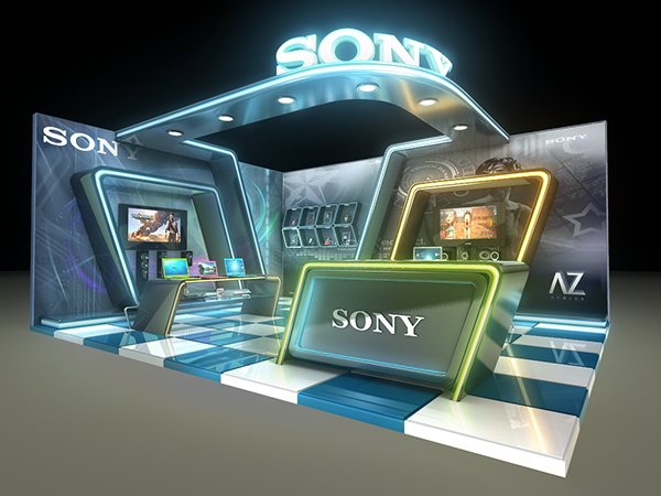 Exhibition Stall On Behance : Sony exhibition stall on behance