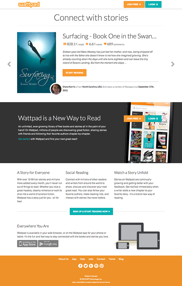 Wattpad Designs and Concepts on Behance