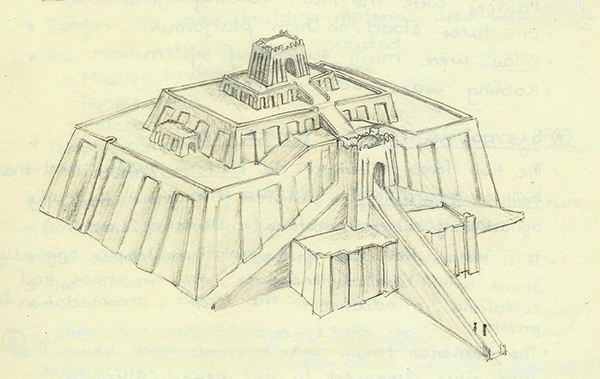 the gallery for gt ziggurat sketch