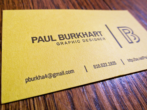 Personal business card letterpress on behance reheart