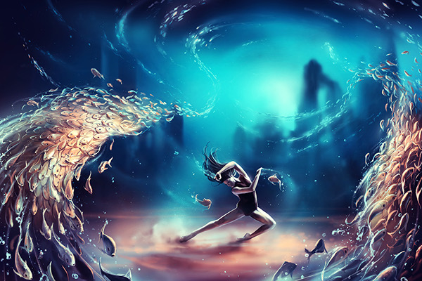 PISCES Dancing Zodiac by Cyril Rolando