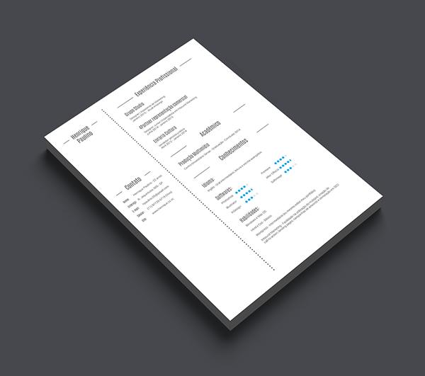 有設計感的23套履歷表設計欣賞