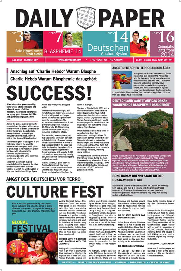 DailyPaper :: Newspaper Template on Behance