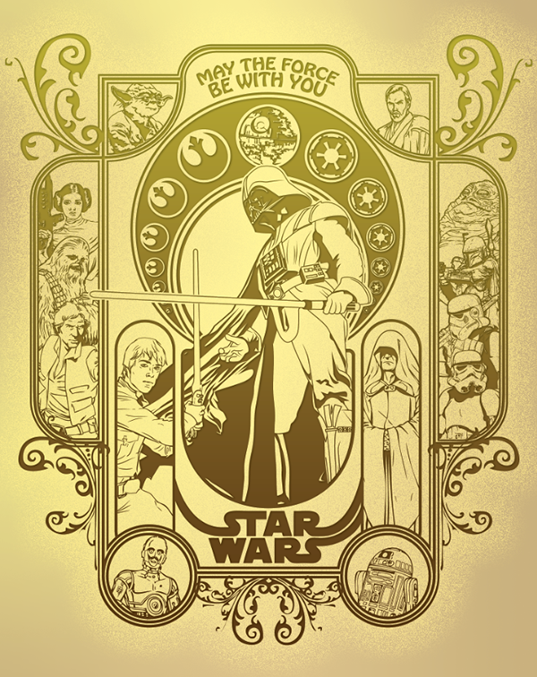 star wars art nouveau on behance. Black Bedroom Furniture Sets. Home Design Ideas