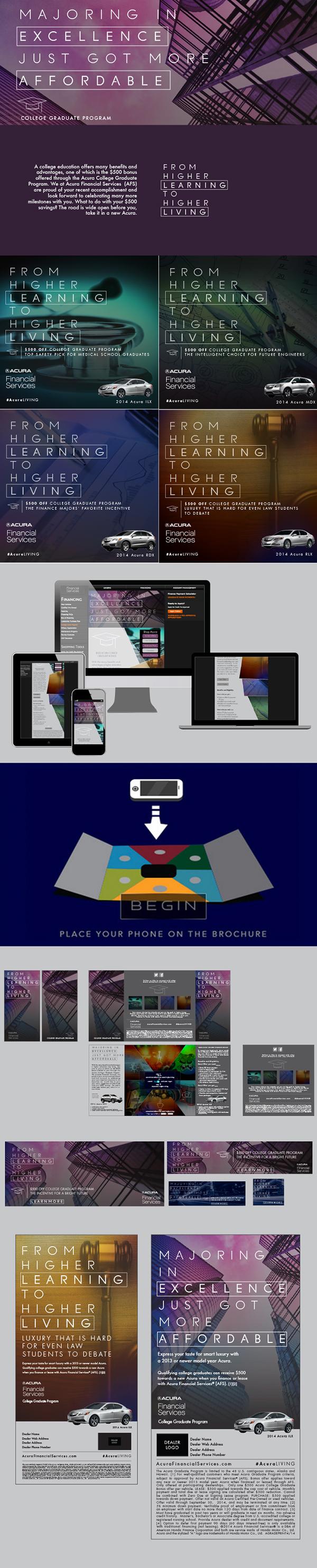 type Acura Cars social media Web interactive brochure