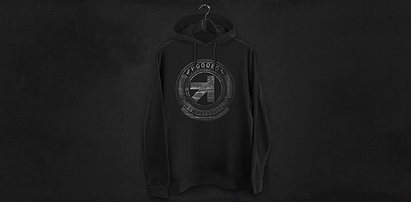 hoodie sweatshirt mockup on pantone canvas gallery