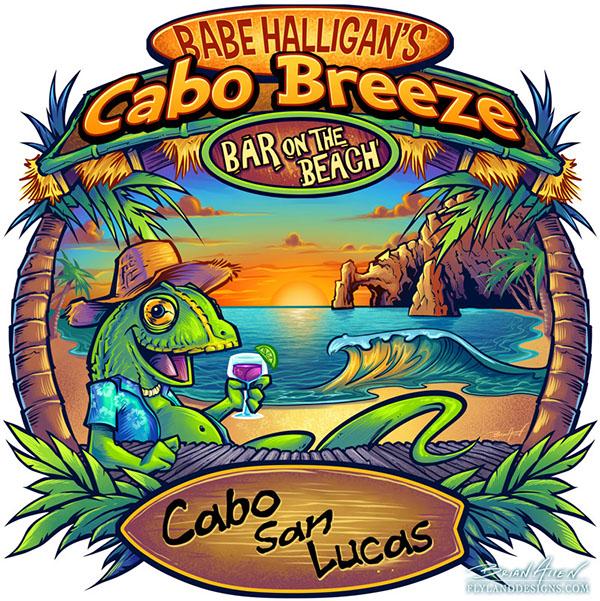 tropical beach bar t shirt design on behance