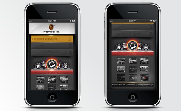 porsche app mobile on behance. Black Bedroom Furniture Sets. Home Design Ideas