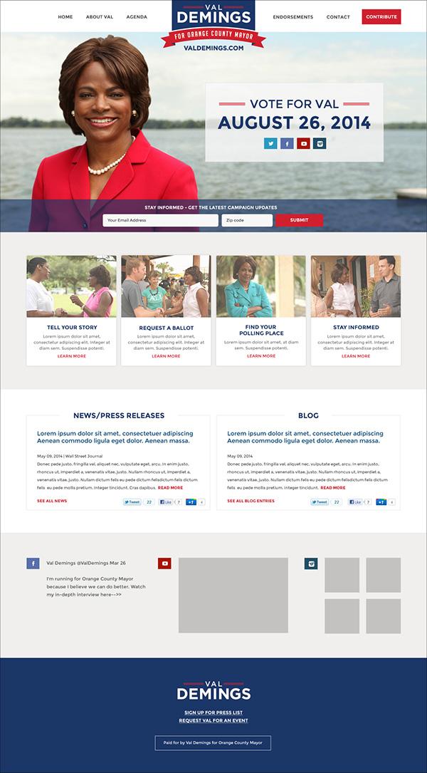 Website political design politics