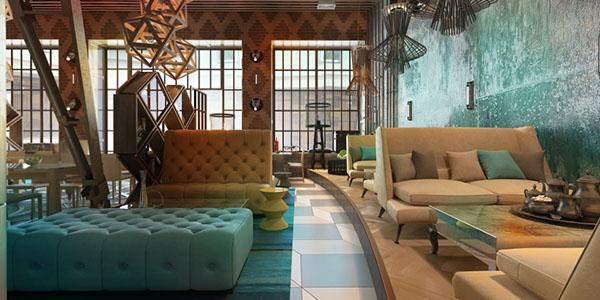 Funk restaurant interior on behance
