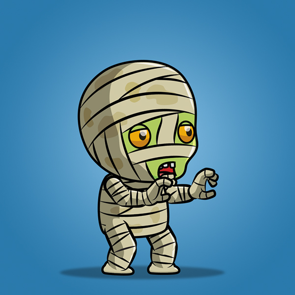 2D Game Sprite - Tiny Mummy 01 on Behance