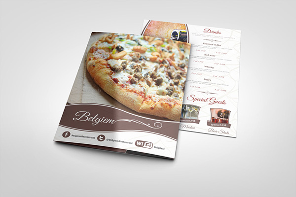 restaurant menu template on behance